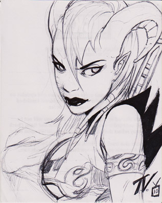 another sketch ...Draenei by TV-TonyVargas