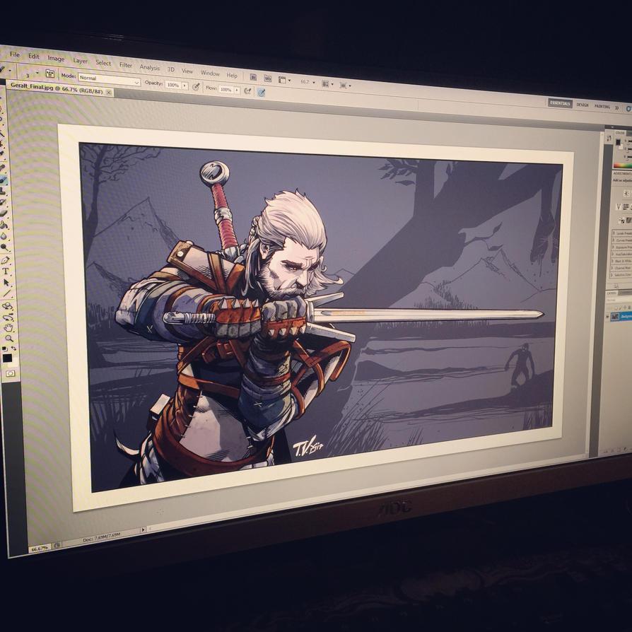 Geralt of Rivia by TV-TonyVargas
