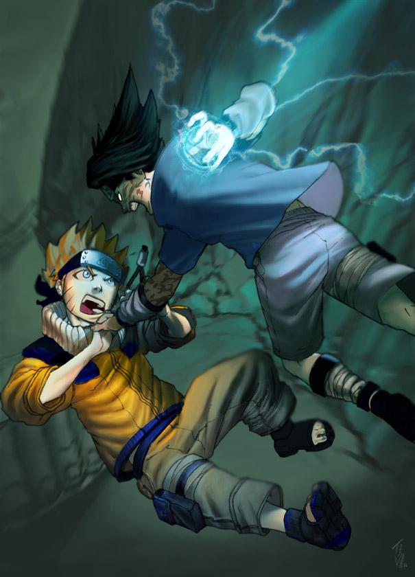 Naruto-Kun Vs. Sasuke-Kun by TV-TonyVargas