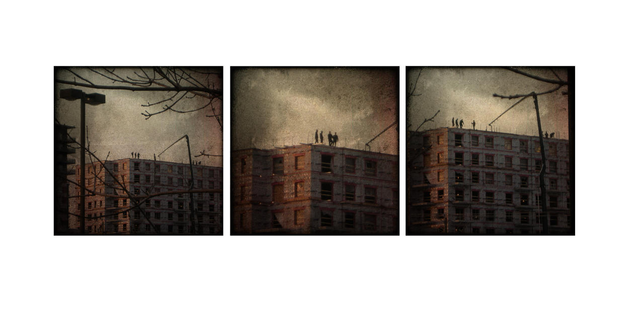 Superheros on the roofs by Izaaaaa