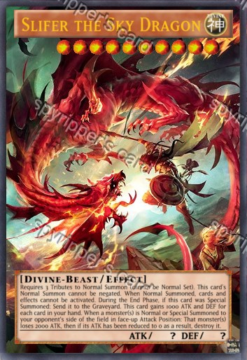 Slifer the sky dragon -  - yugioh orica (proxy) by spyrohealth