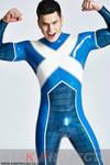Latex Blue X Suit