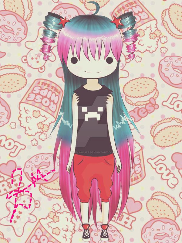 kawaii gamer girl by AgusLawliet on DeviantArt
