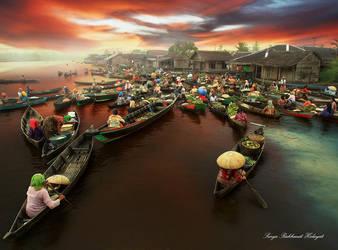 Floating Market Lokbaintan by Suryarakhmathidayat