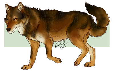 [YCH] Red Wolf