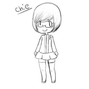 Chie Satonaka [sketch] by kuro-shii