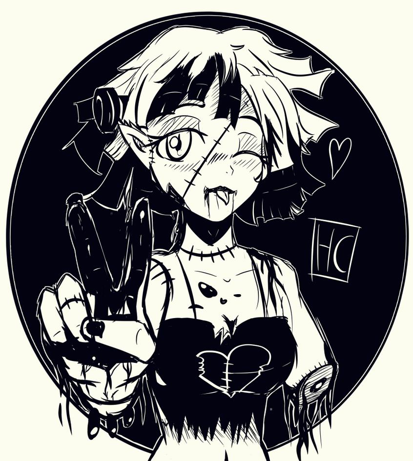 monster_girl_ink_by_justingreeneart-dbrn