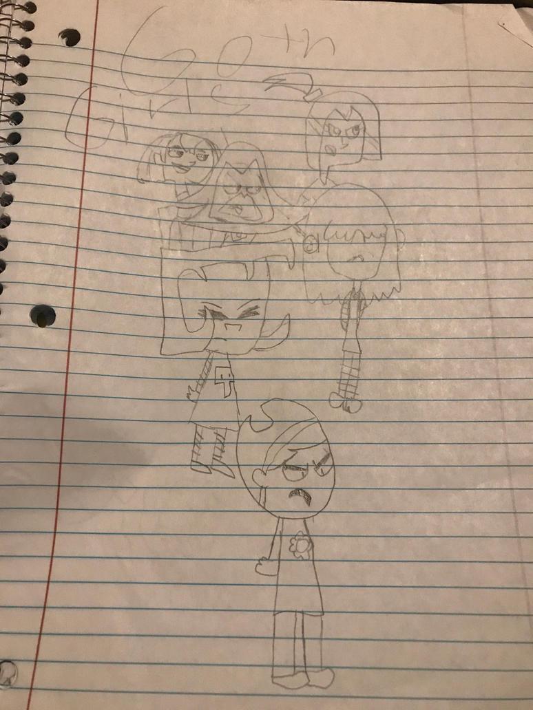 The Gothic Peeps!! by spongeboom18