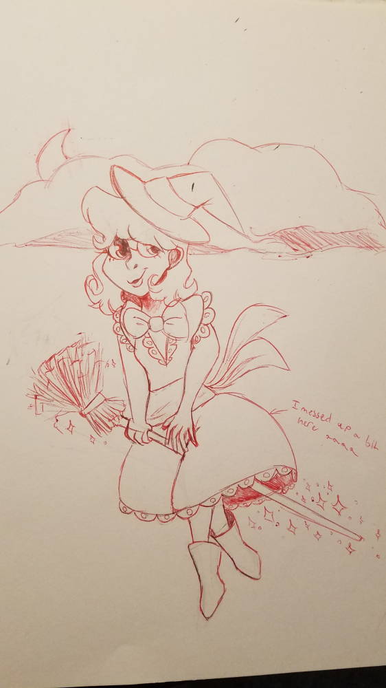 Witchy Witch: Inktober 1 by Meowbecca