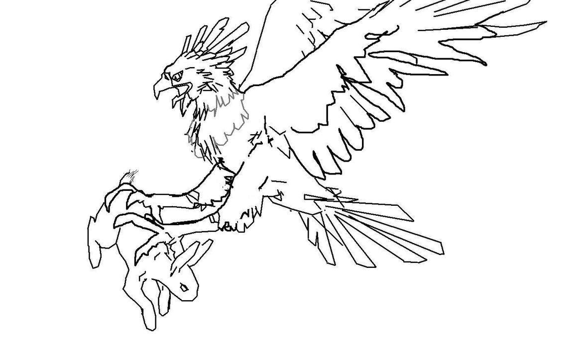 eagle pwning a bunny by devinnath on deviantart