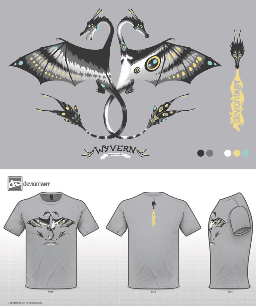 Wyvern Shirt Design by Galadnilien