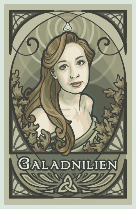 Nouveau Self Portrait by Galadnilien