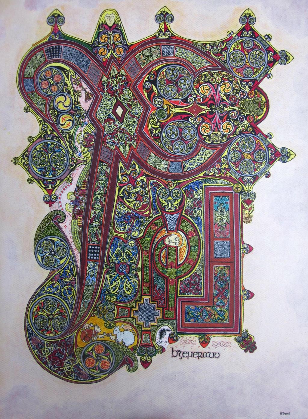 Book Of Kells Folio 34r By Nikeyvv On Deviantart border=