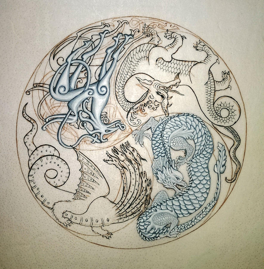 Dragon Mandala WIP 2 by nikeyvv