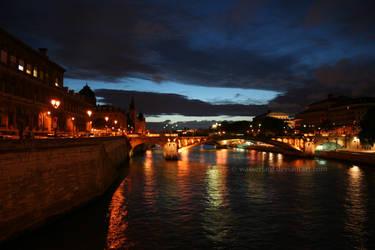 les ponts de Paris by Wasserlauf