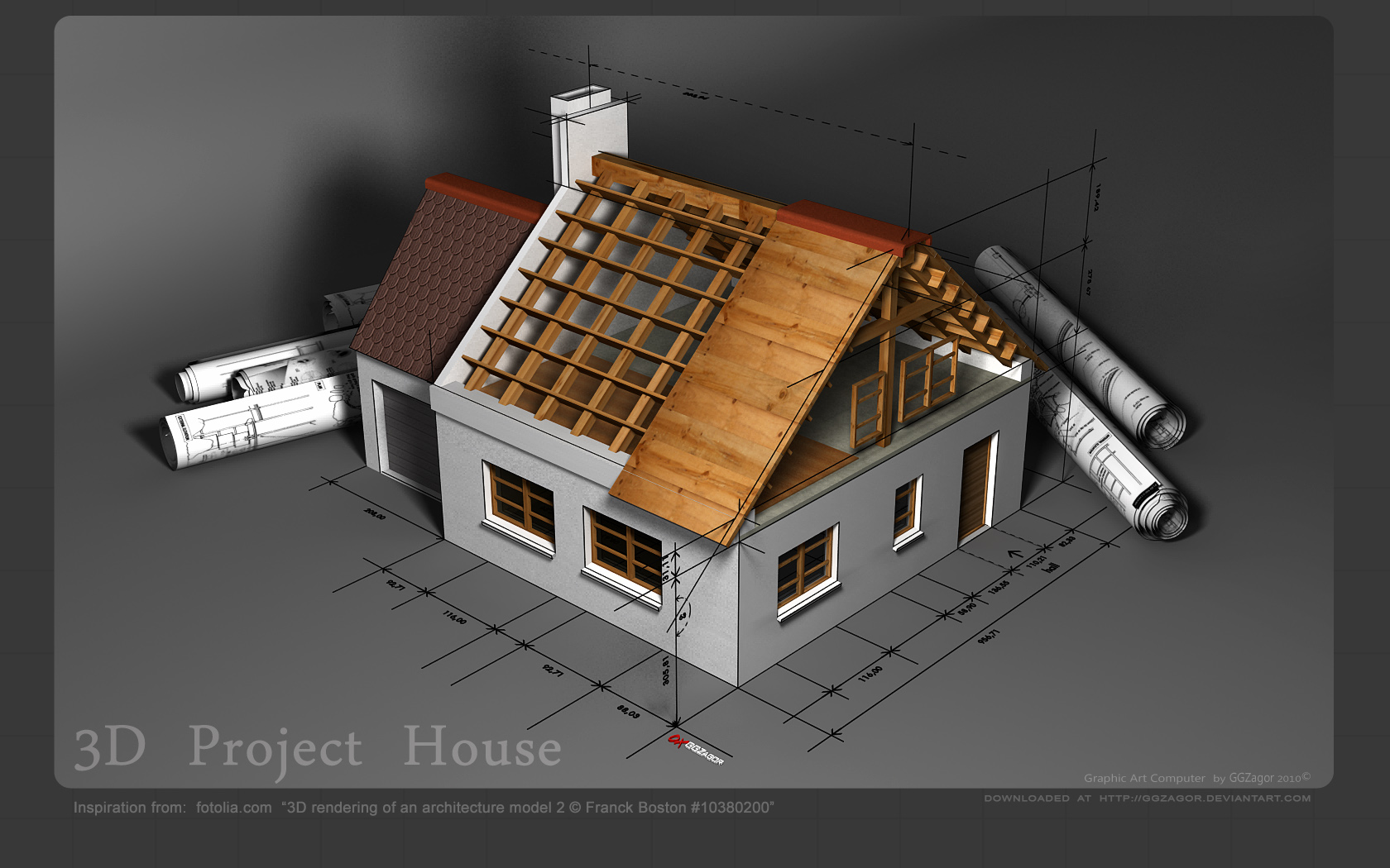 3d project house 01 by ggzagor on deviantart for Project house