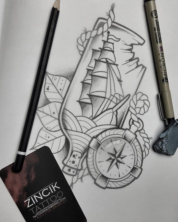 martin tattooer zincik ship in bottle tattoo by zincik on deviantart. Black Bedroom Furniture Sets. Home Design Ideas