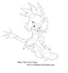 Blaze The Cat: Fire Woman! -Line Art- by Cab-Studios