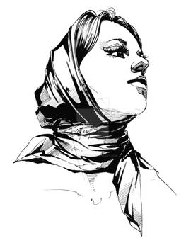 Lady in scarf