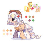 Adopt pony Apple Rose+Applejack (Close) by marvi69