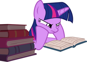 Twilight reading a book by Elsia-pony