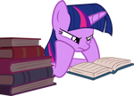 Twilight reading a book