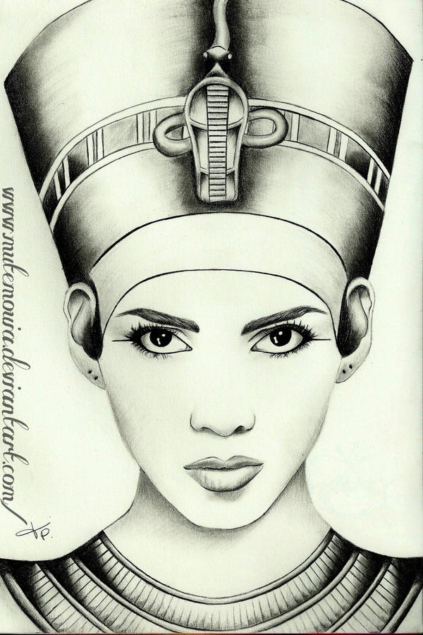 egyptian queen drawing -#main