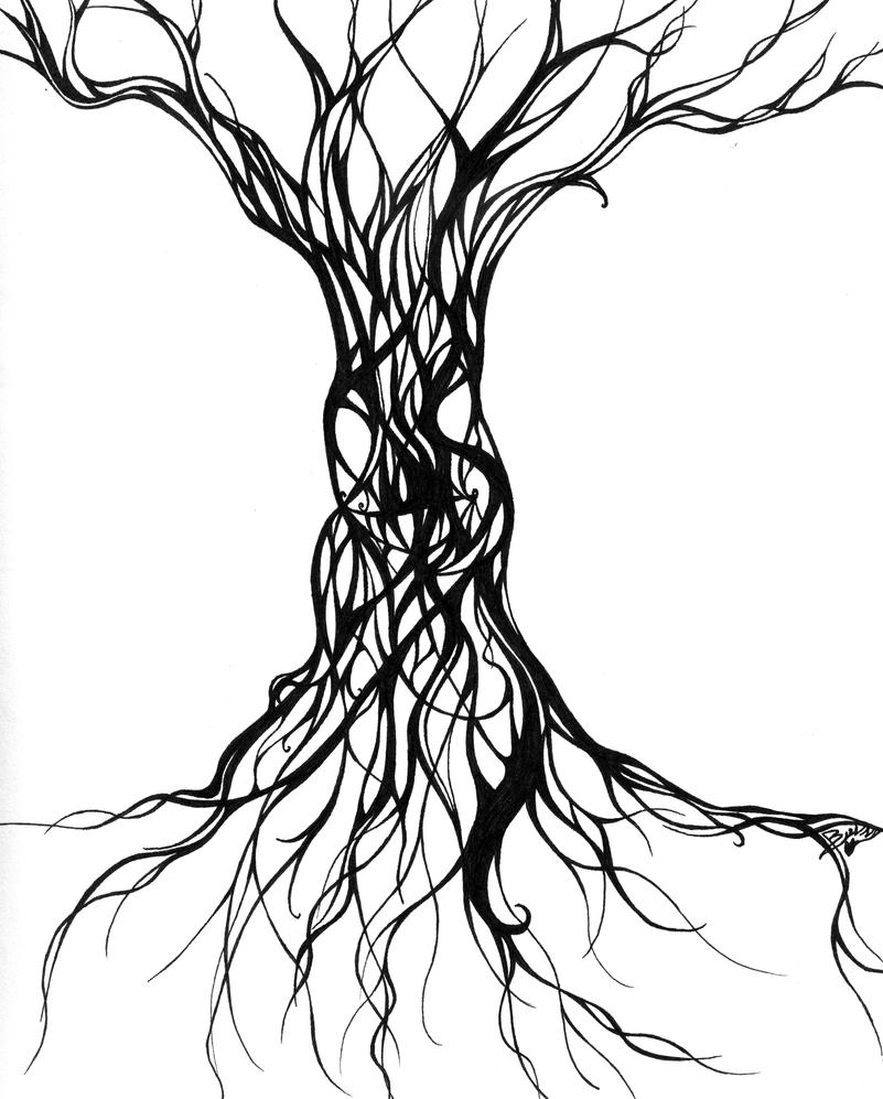 Line Art Of Trees : Evil tree by terrible beauty on deviantart