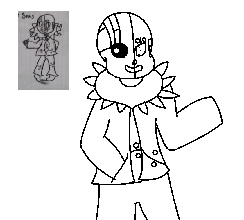 Underwire sans lineart by lockedheart36 on deviantart for Sans coloring page