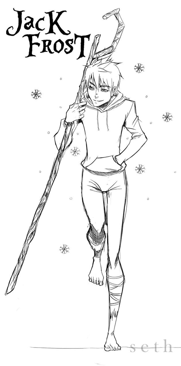 Adult Cute Jack Frost Coloring Pages Gallery Images beauty rise of the guardians jack frost coloring sketch page view larger image images