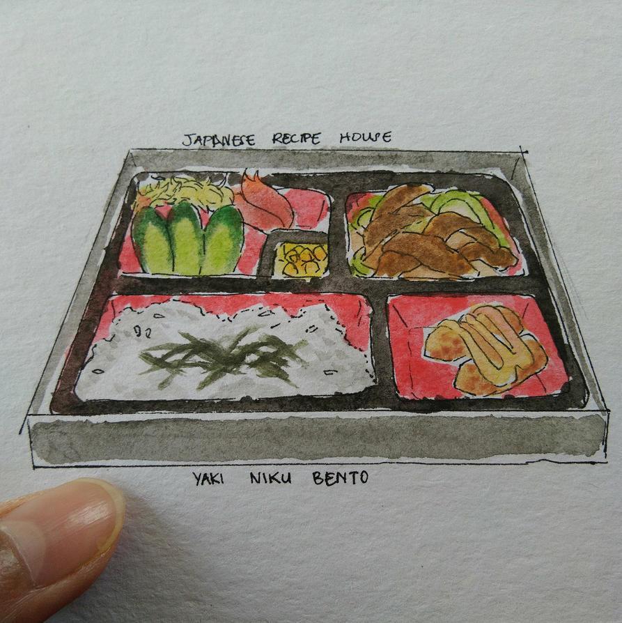 Yakiniku Bento  by SethKuroiHuke