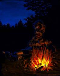 Campfire: 2000 kiriban. by Umaken