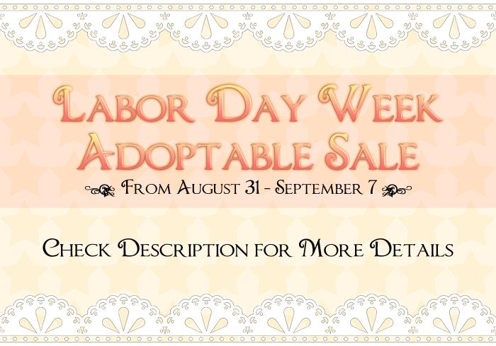 Labor Day Adoptable Sale Week by sonyasim55