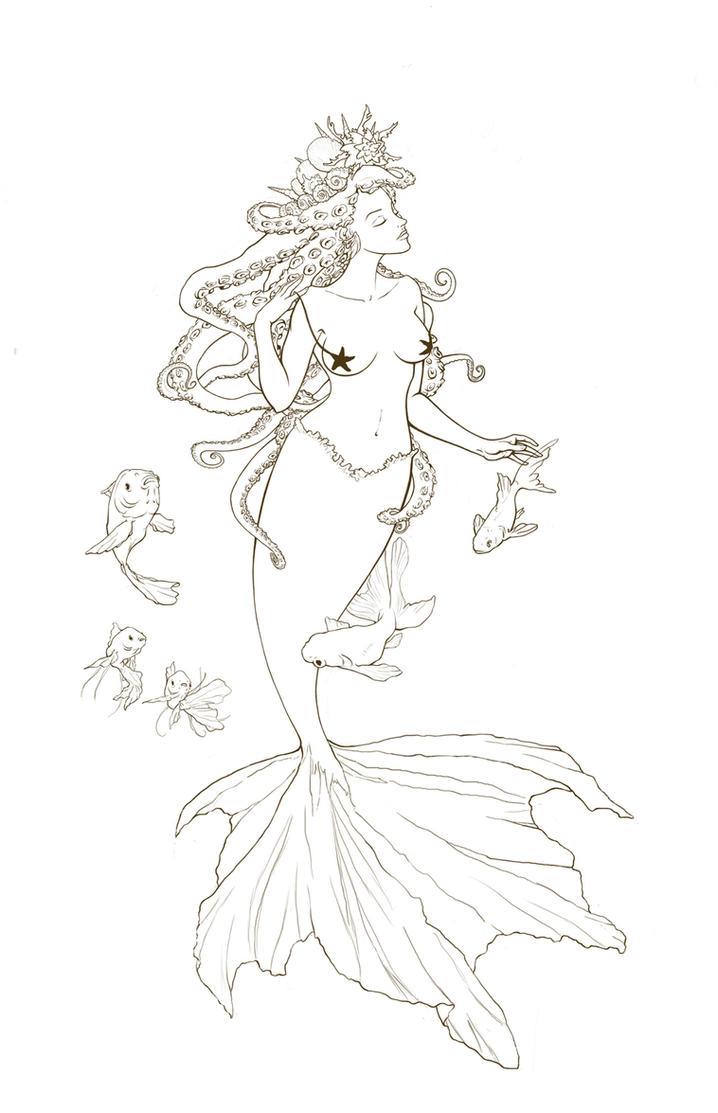 mermaid ink by amadihelsa on deviantart