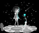 Retro space girl