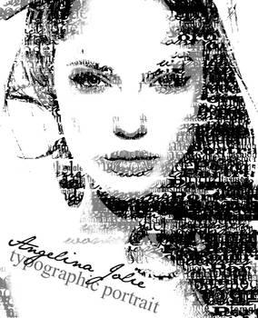 Angelina Jolie typographic portrait