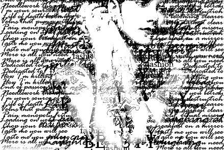 typographic portrait IV