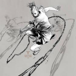 Inktober day 17 (Ninja Spirit)