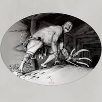 Inktober day 19 (Genan Shiranui/ Samurai Shodown)