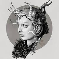 Inktober day 28 (Sorceress Edea/ Final Fantasy 8)