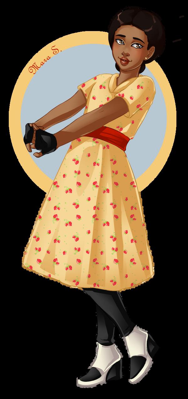 Animerican Girl: Addy by Acaciathorn