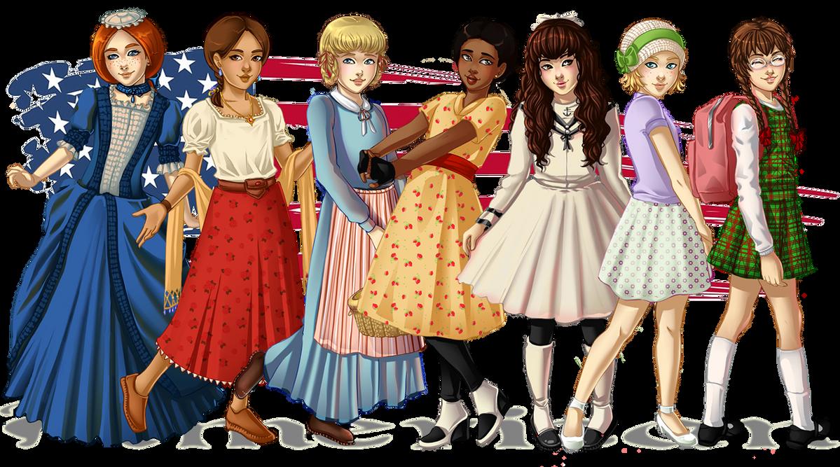 American Girls: 1774-1944 by Acaciathorn