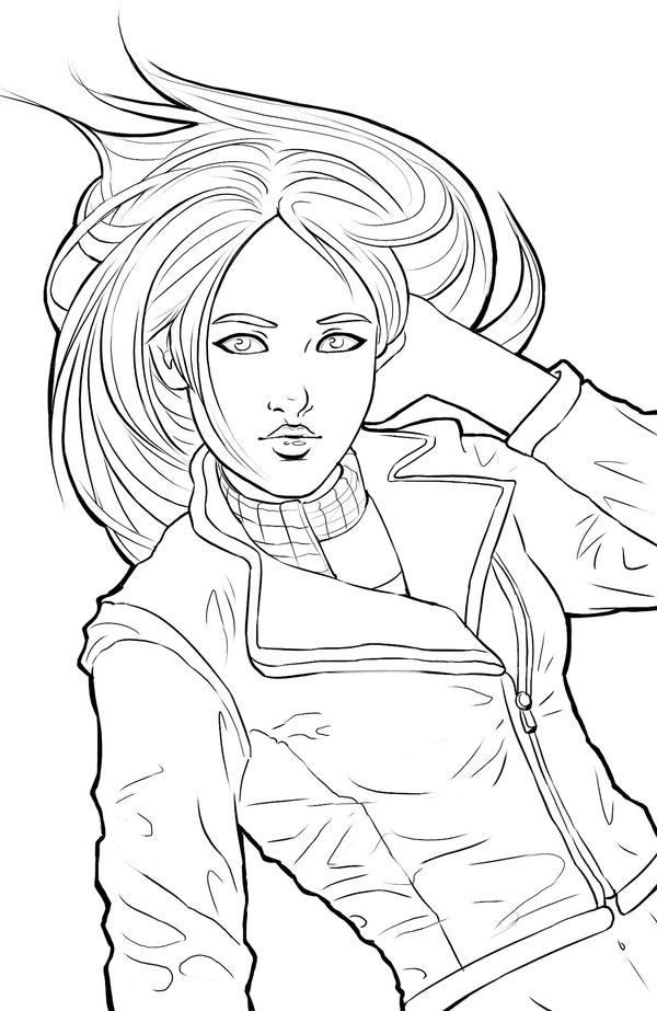 Commission amy pond by acaciathorn on deviantart for Dr who coloring pages