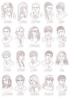 Hogwarts NPCs by Acaciathorn