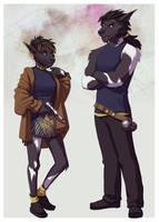 Commission: Eddia and Vant Dak'elsen by Acaciathorn