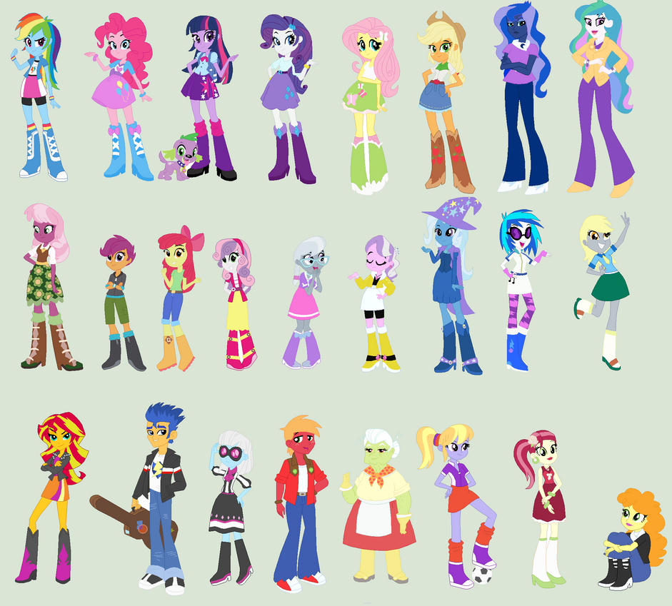Equestria Girls: Correct Colors by ClockworkPonyArtist