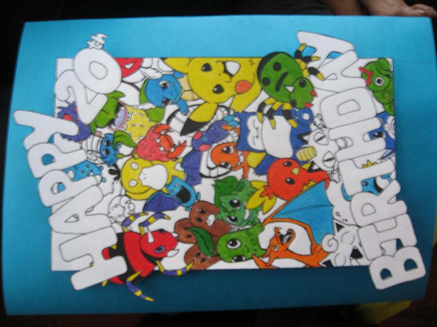 pokemon birthday card front by gracw on deviantart, Birthday card