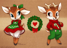 Merry Deer-mas! by Katie-W