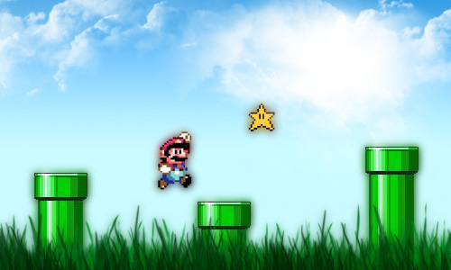 Super Mario by m-a-t-h-e-s