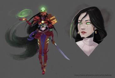 Character design Challenge : Samurai by Beloup